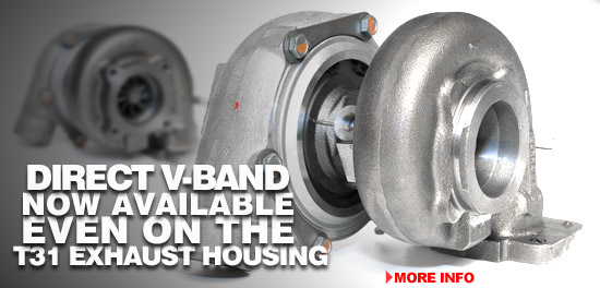 Direct V-Band Now Available Even on the T31 Exhaust Housing